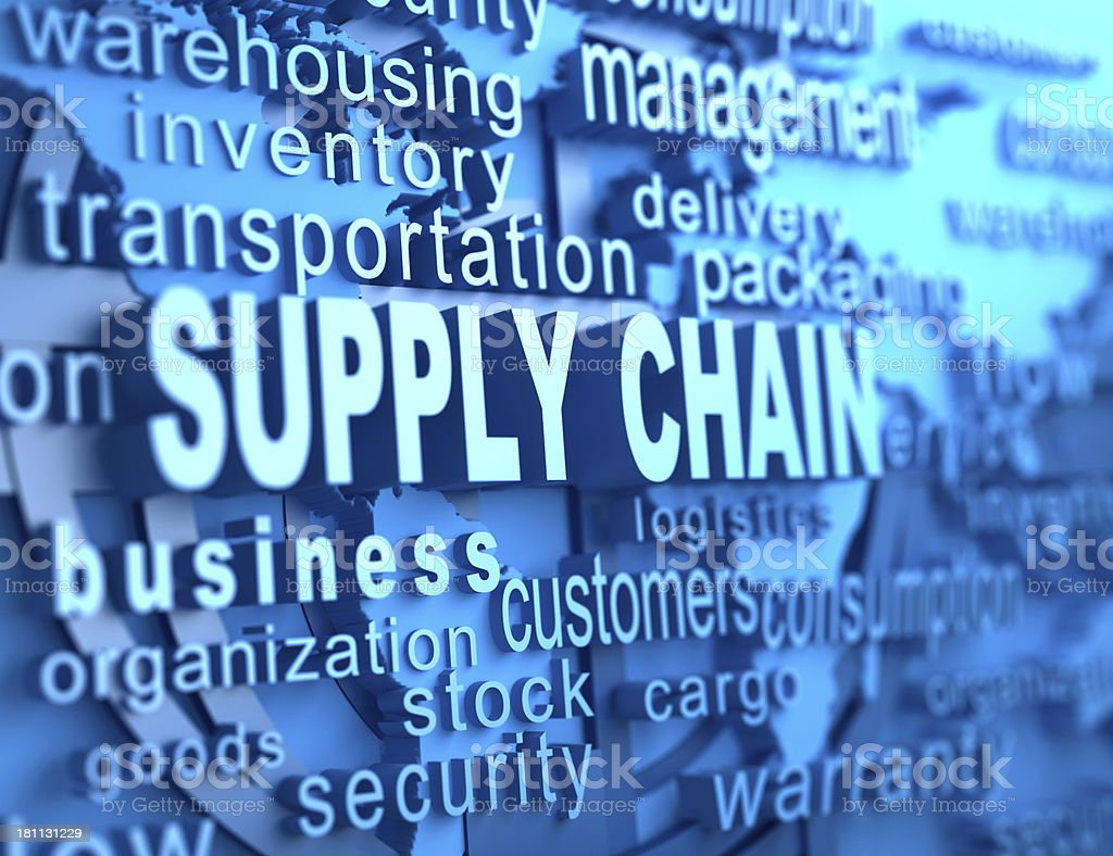 Supply chain royalty-free stock photo