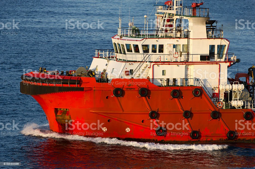 Supply vessel stock photo