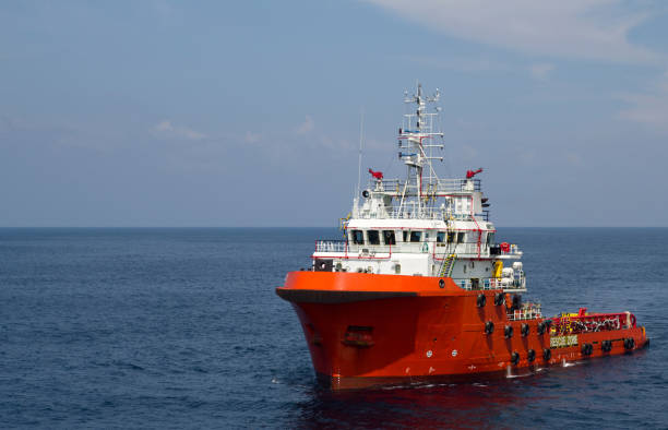 Supply vessel stock photo