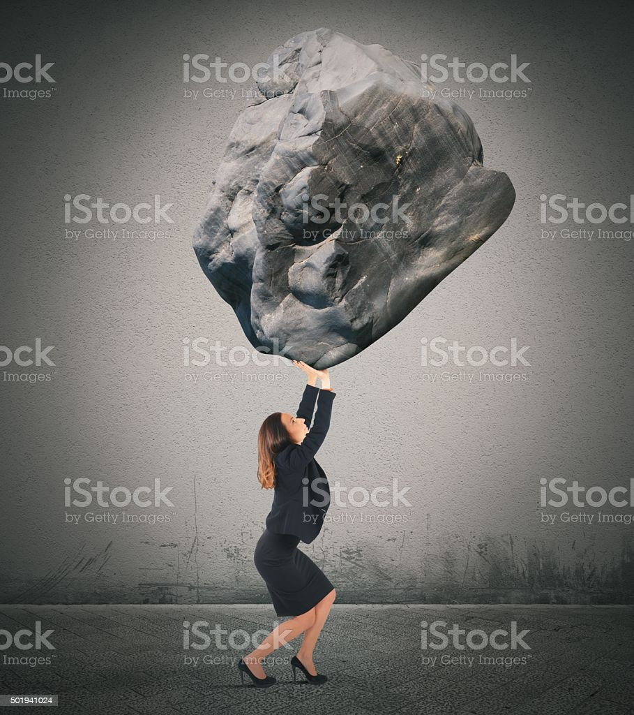 Support a big weight stock photo