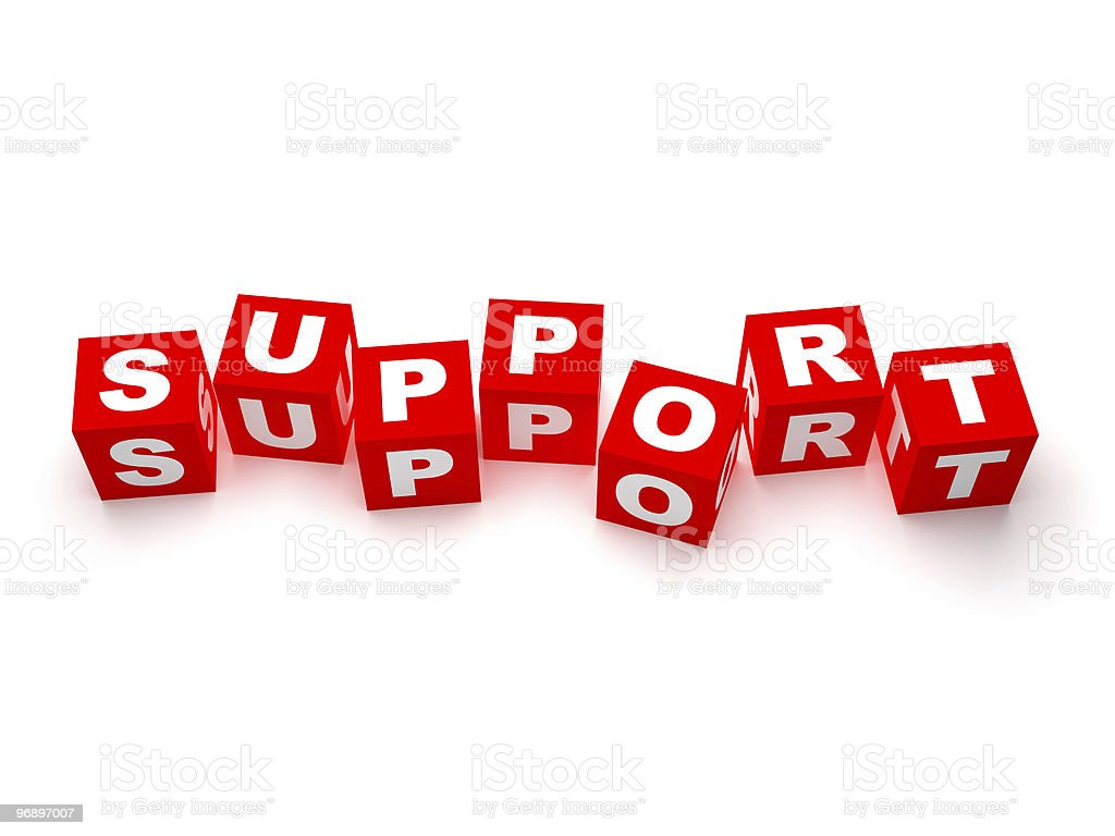 Support blocks royalty-free stock photo