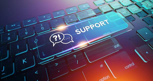 Support Button on Computer Keyboard Support Button on Computer Keyboard help single word stock pictures, royalty-free photos & images
