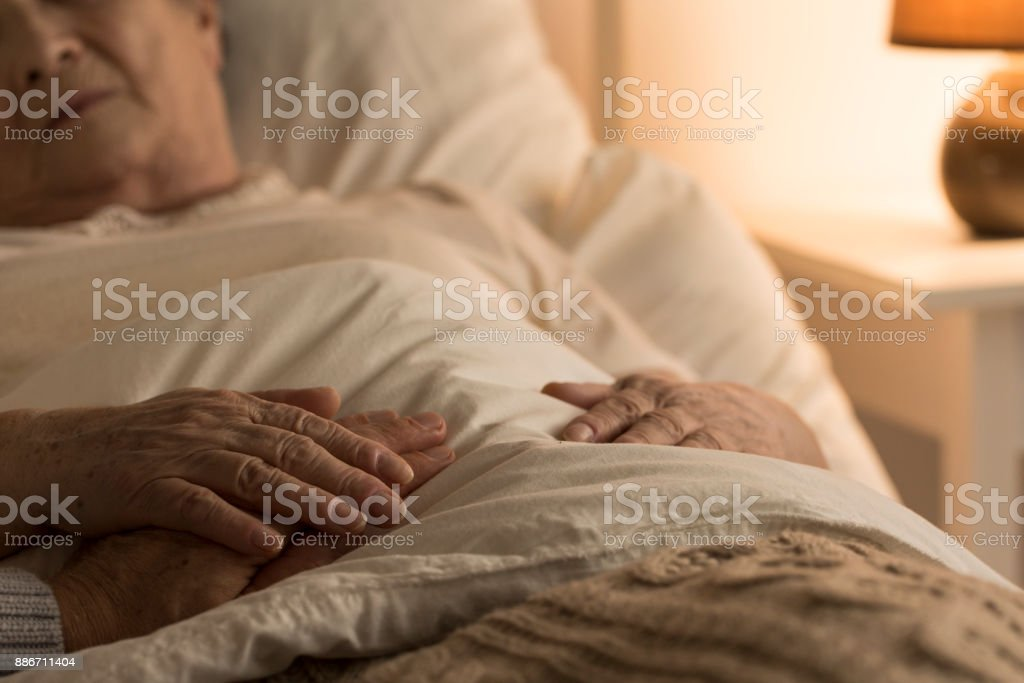 Support during sickness stock photo
