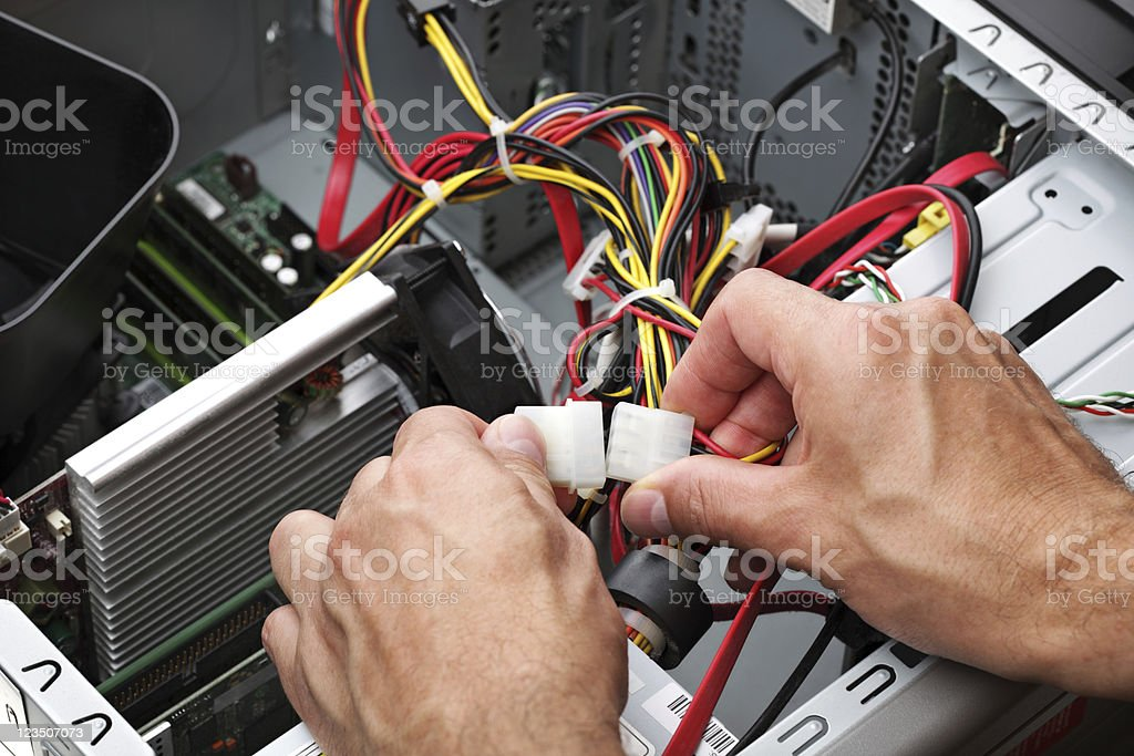 IT support engineer stock photo