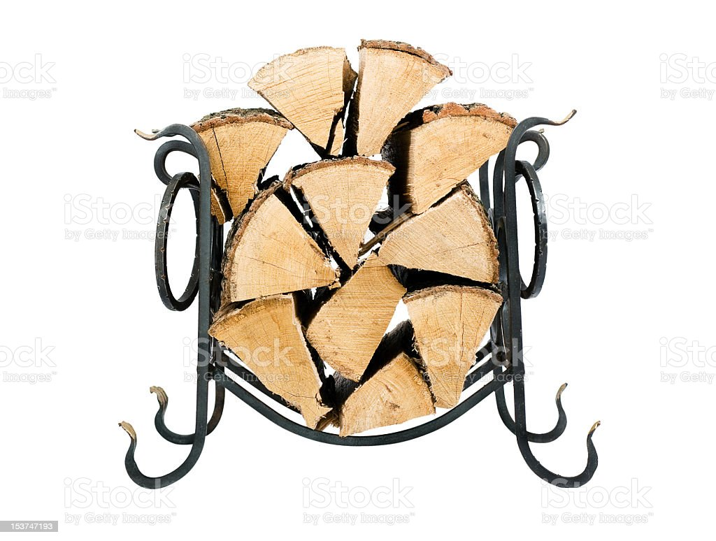 Support for fire wood royalty-free stock photo