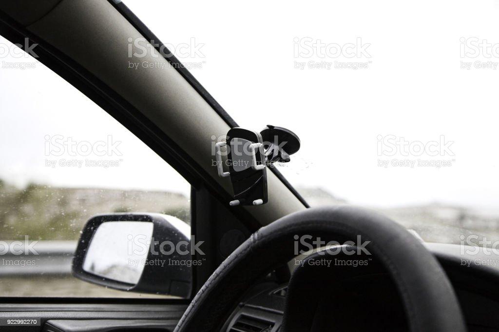 Stöd för gps bildbanksfoto