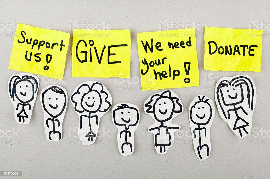 Support Give Help Concept stock photo