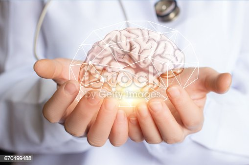 istock Support healthy of the brain of the patient . 670499488