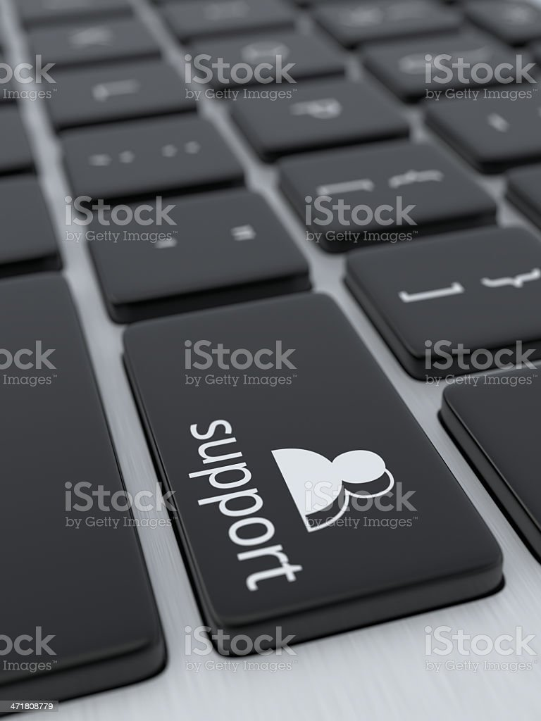 Support Key XL+ stock photo