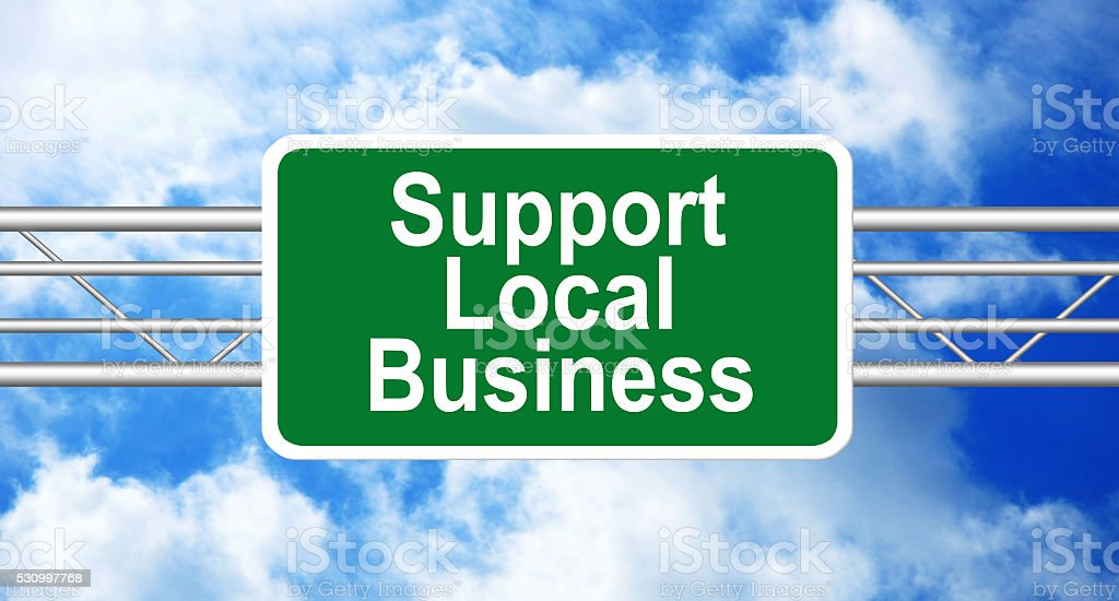 Support Local Business stock photo