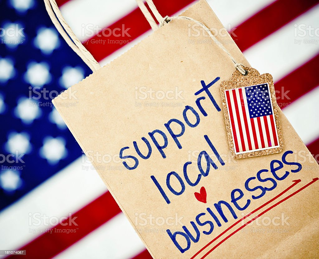 Support Local Businesses royalty-free stock photo