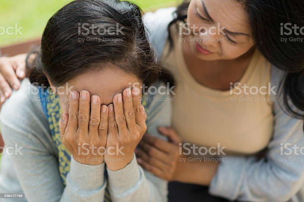 Support of friend stock photo