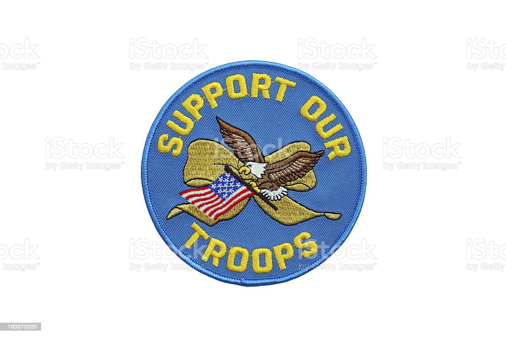 Support our Troops Patch royalty-free stock photo