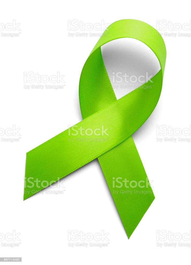 Support Ribbon Green stock photo