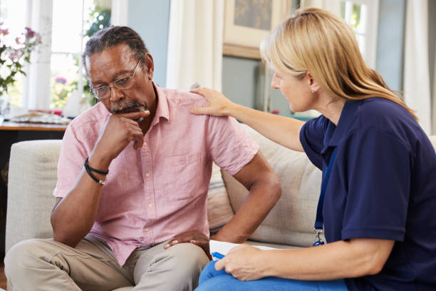 Support worker visits senior man suffering with depression picture id874800030?b=1&k=6&m=874800030&s=612x612&w=0&h=dq8jimjaguesklb4agby4xiztxp9svdnfn2b nvgaq4=