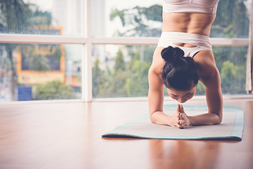 Supported Headstand Stock Photo - Download Image Now