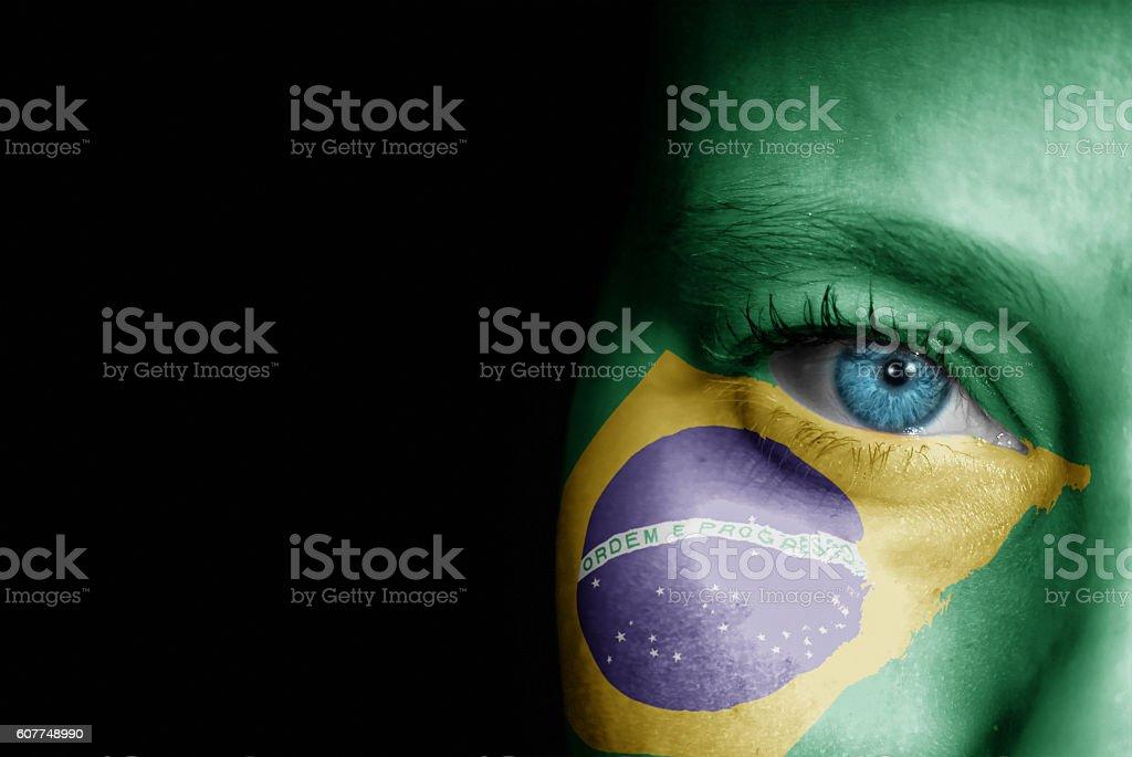 Supporter of Brazil stock photo