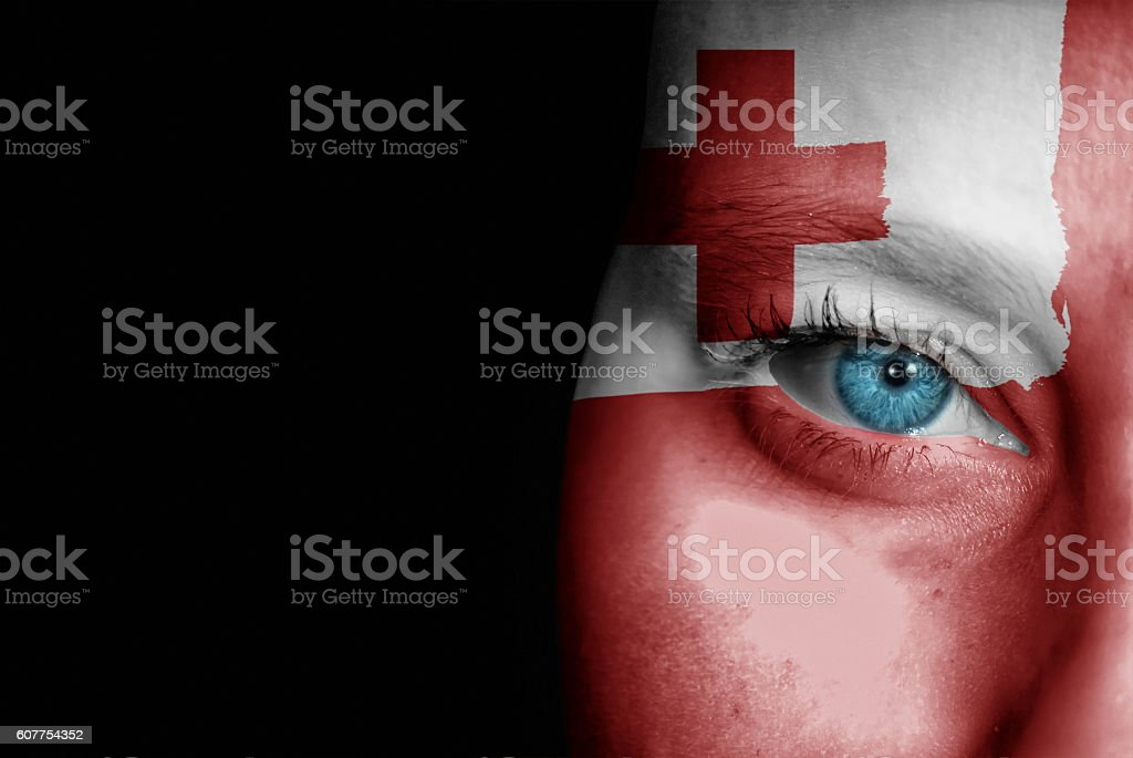 Supporter of Tonga stock photo