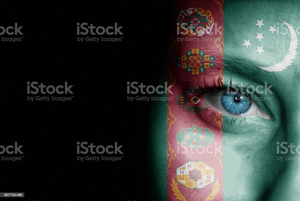 Supporter of Turkmenistan stock photo