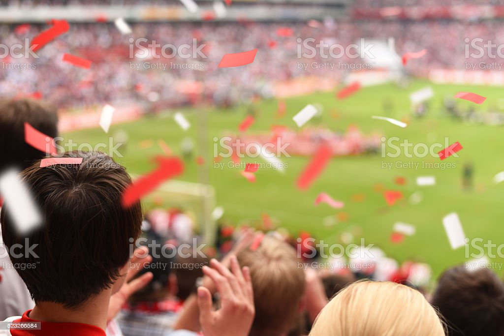 Supporter stock photo