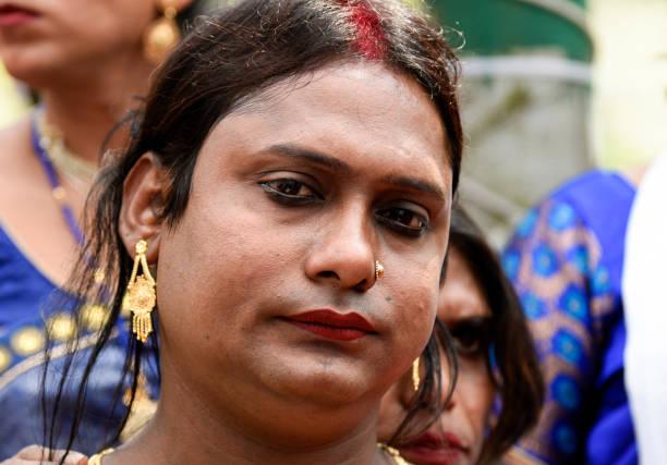 Unterstützer und Mitglieder der Transgender-Community nehmen an einer Pride Parade teil – Foto