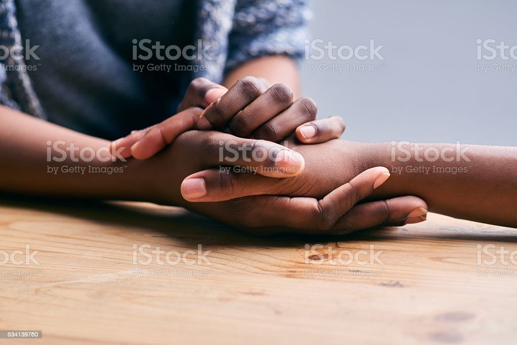 Supporting a friend stock photo