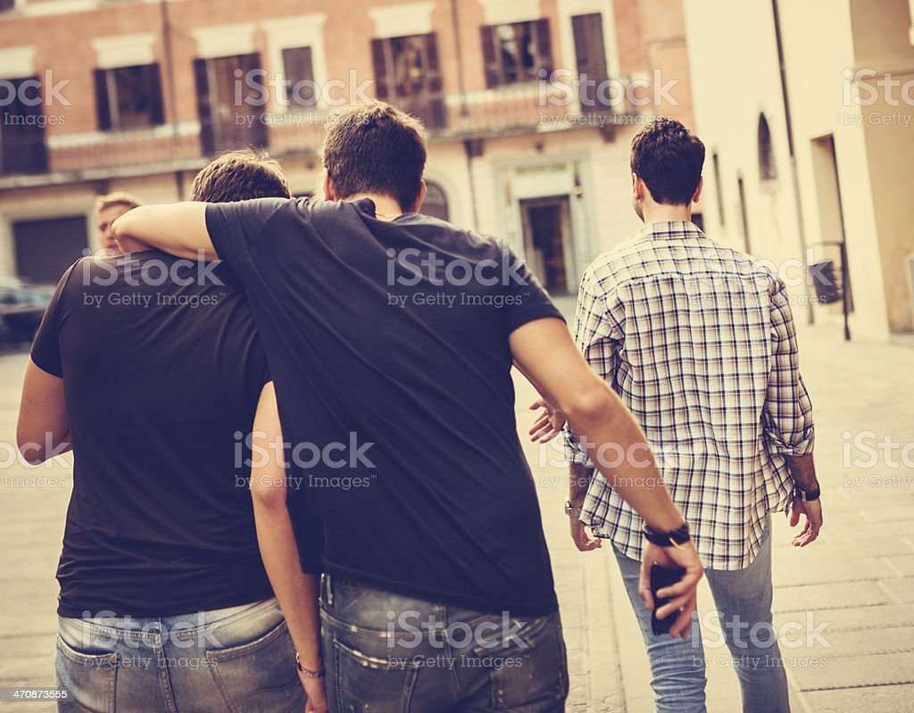 supporting a sad friend stock photo