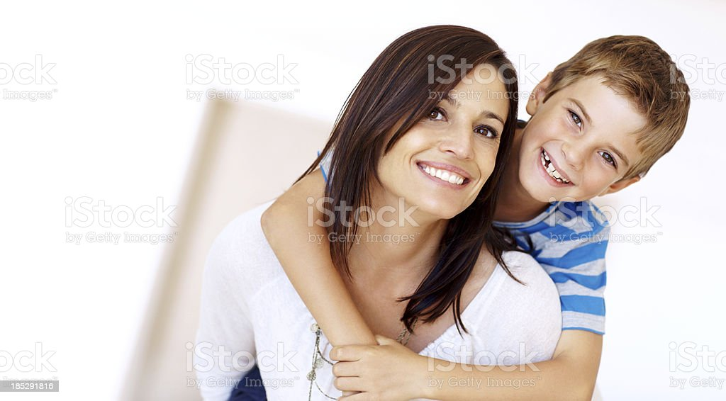 Supporting him during his formative years stock photo