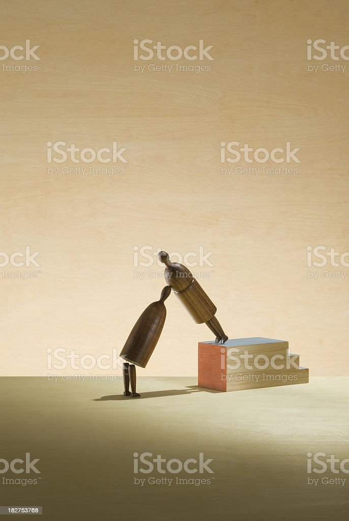 Supporting relationship. royalty-free stock photo