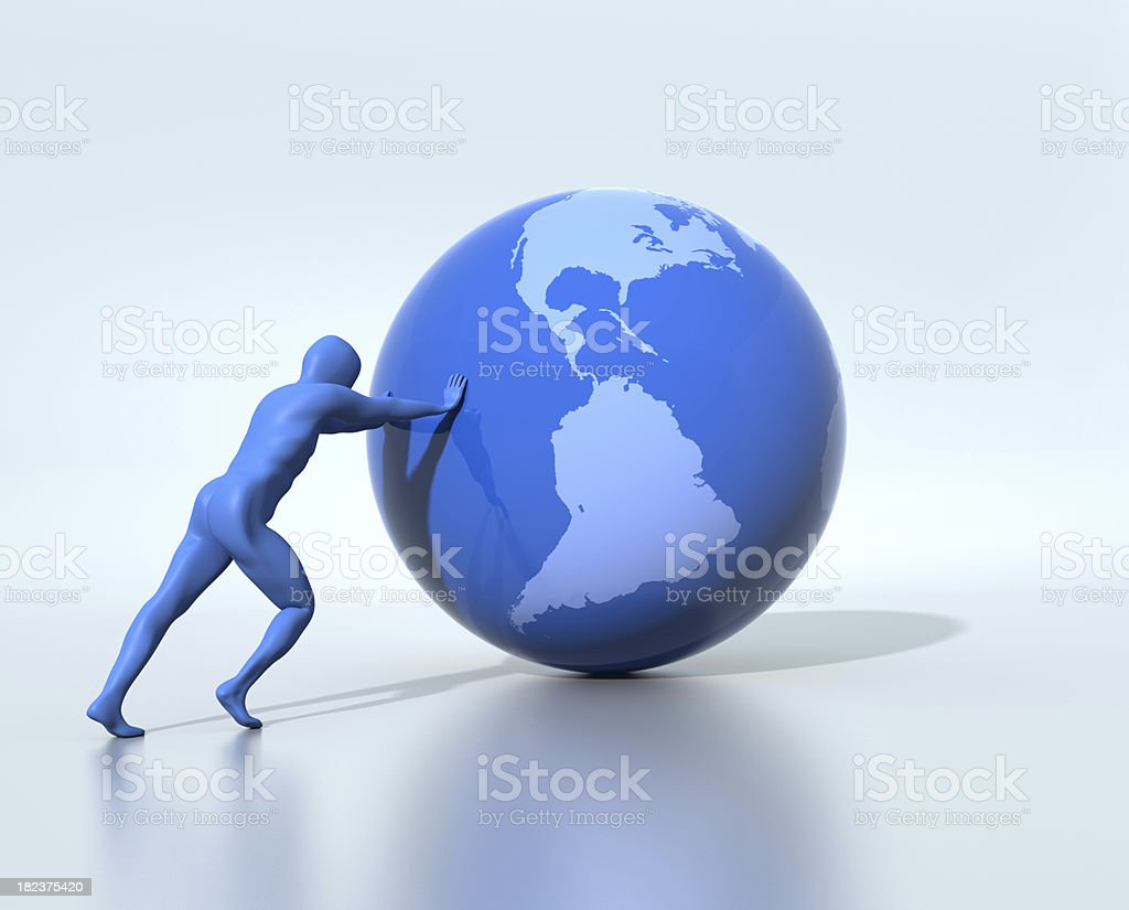 Supporting the earth royalty-free stock photo