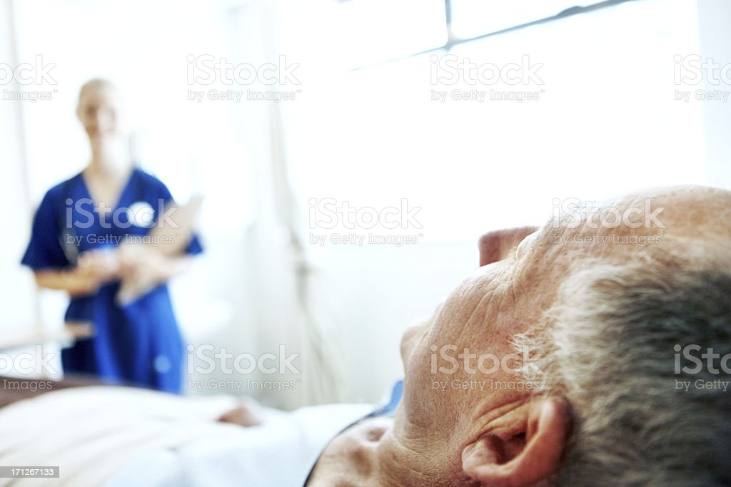 Supportive staff always nearby royalty-free stock photo