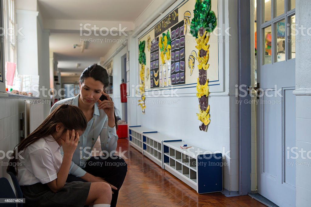 Supportive Teacher stock photo