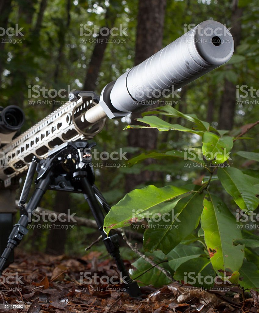 Suppressed fire stock photo