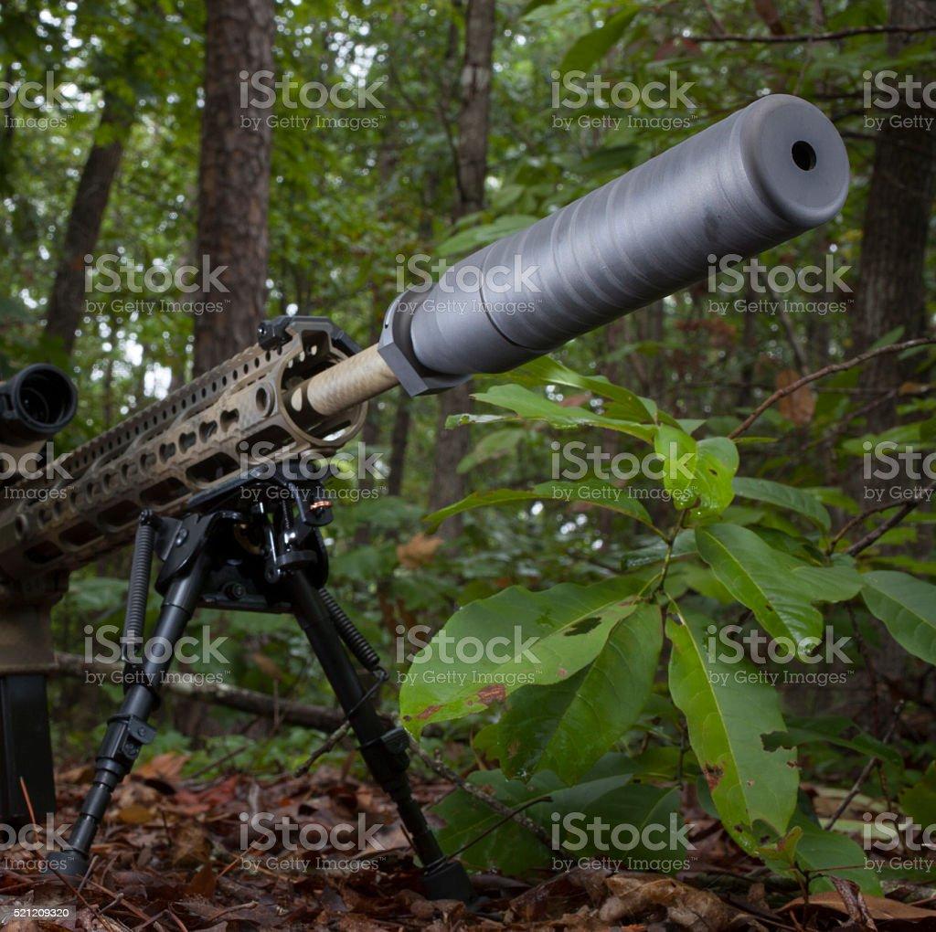 Suppressor stock photo