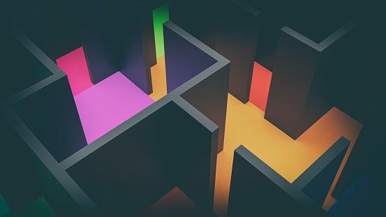 suprematism constructivism 3d illustration