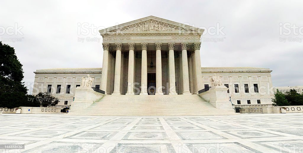 US Supreme Court Building and Plaza, Capitol Hill Washington DC royalty-free stock photo