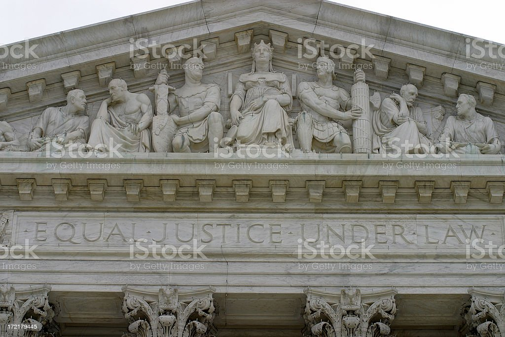 Supreme Court Building detail royalty-free stock photo