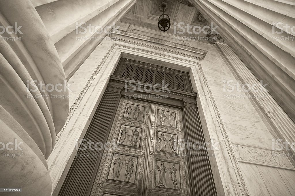 Supreme Court Building Entrance royalty-free stock photo