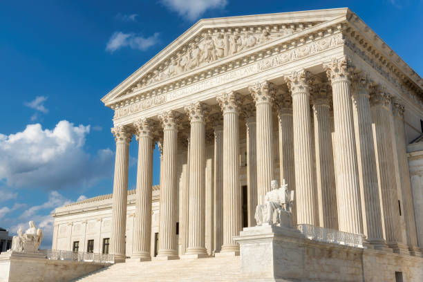 Supreme Court Building in Washington DC stock photo