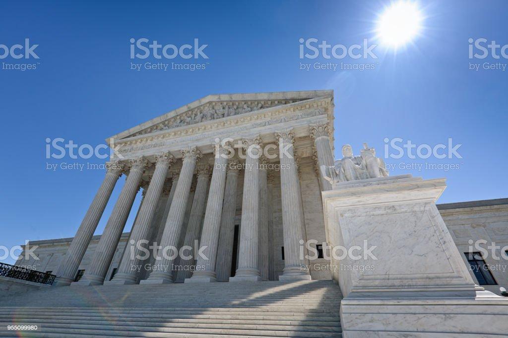 U.S. Supreme Court Building in Washington DC stock photo