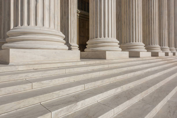 Supreme Court Building in Washington DC, USA Washington DC, USA. federal building stock pictures, royalty-free photos & images