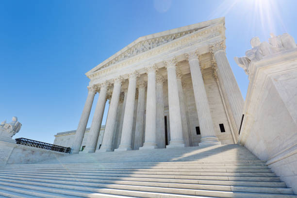 US Supreme Court Building in Washington DC USA – Foto
