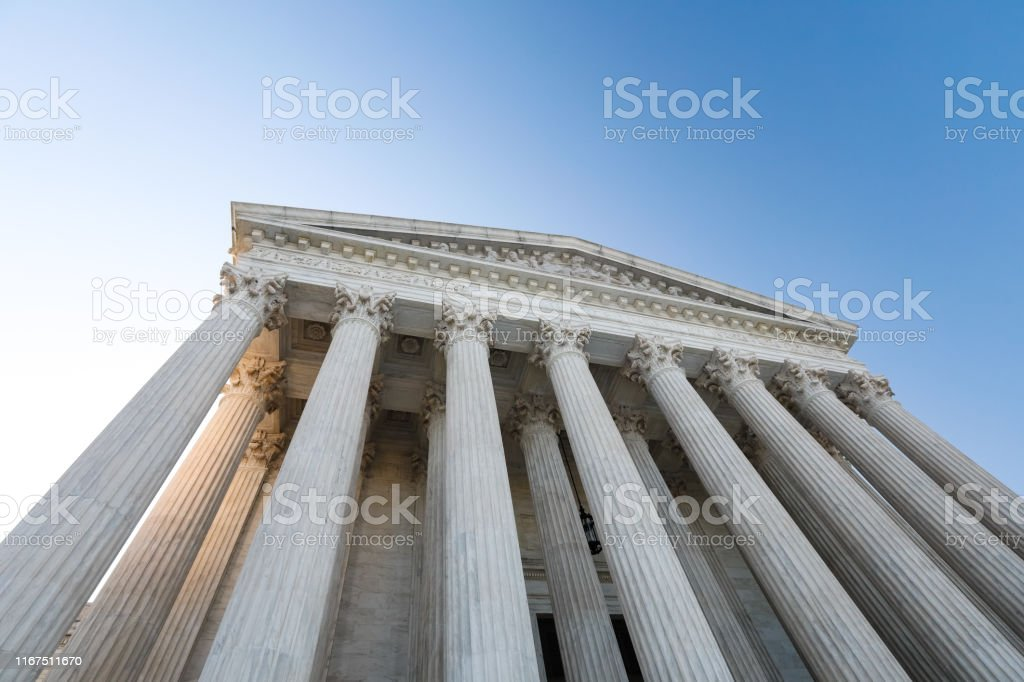 AMERIKANSK högsta domstolsbyggnad - Royaltyfri Arkitektonisk kolonn Bildbanksbilder