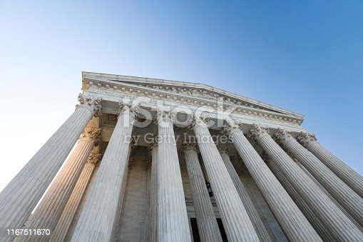 US Supreme Court building in Washington, DC.