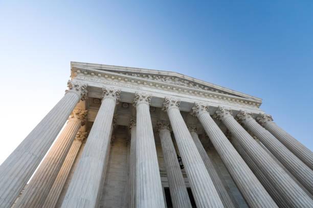 abd yüksek mahkeme binası - adalet sarayı stok fotoğraflar ve resimler
