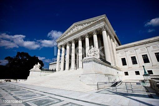 US Supreme Court building in Washington, DC.