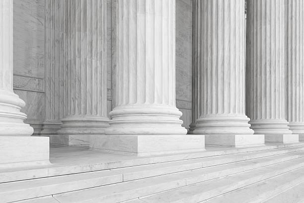 cour suprême des états-unis - colonne architecturale photos et images de collection