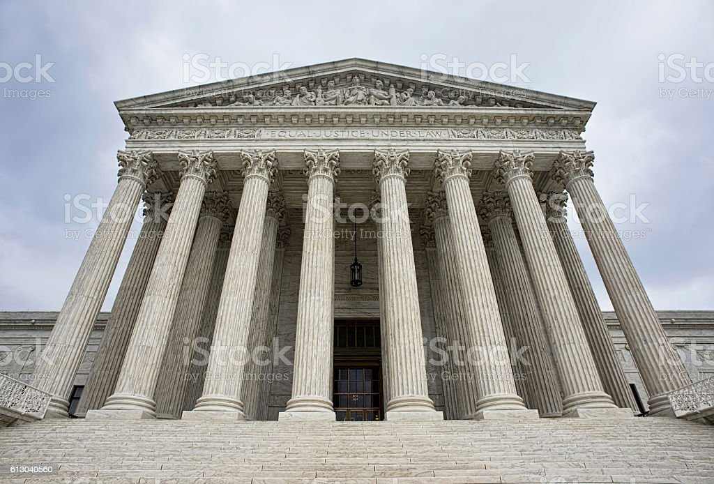 Supreme Court Building. stock photo