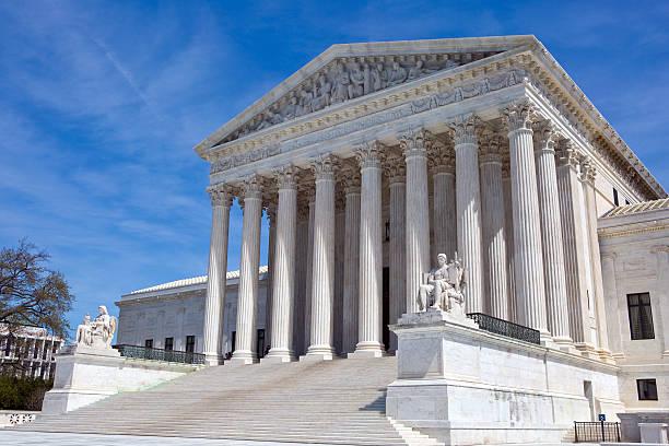 usa supreme court building - abd yüksek mahkemesi binası stok fotoğraflar ve resimler