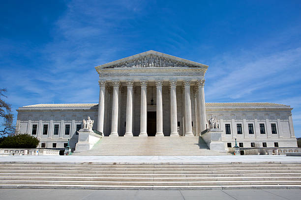 Supreme Court Building USA Supreme Court building in the United States of America is located in Washington, D.C., USA. us supreme court building stock pictures, royalty-free photos & images